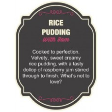 Dinner Lady Rice Pudding 3x10ml